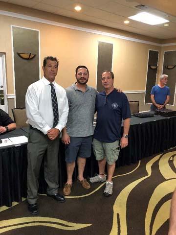 L91 BM John DeRosa, new member Frank Farina and His Uncle, Bill Calcagni.