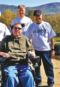 """From left are Local 5 retirees Jack Campbell, Gerry Littrell, Rich Smith, and Tom Phillips with Staff Sergeant Arthur """"Bunky"""" Woods"""
