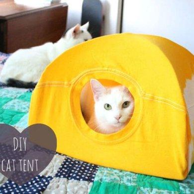 DIY : เต๊นท์แมวเหมียว 18 - Tent