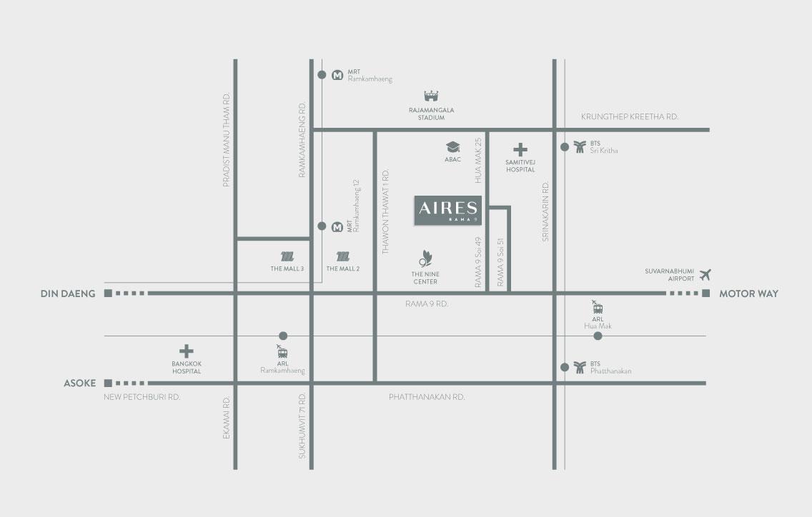 AIRES RAMA9 รีวิว Luxury Townhome 3.5 ชั้น + Rooftop ออกแบบสวย ย่านพระราม9 (ใกล้ รพ.สมิติเวช) 14 - AIRES