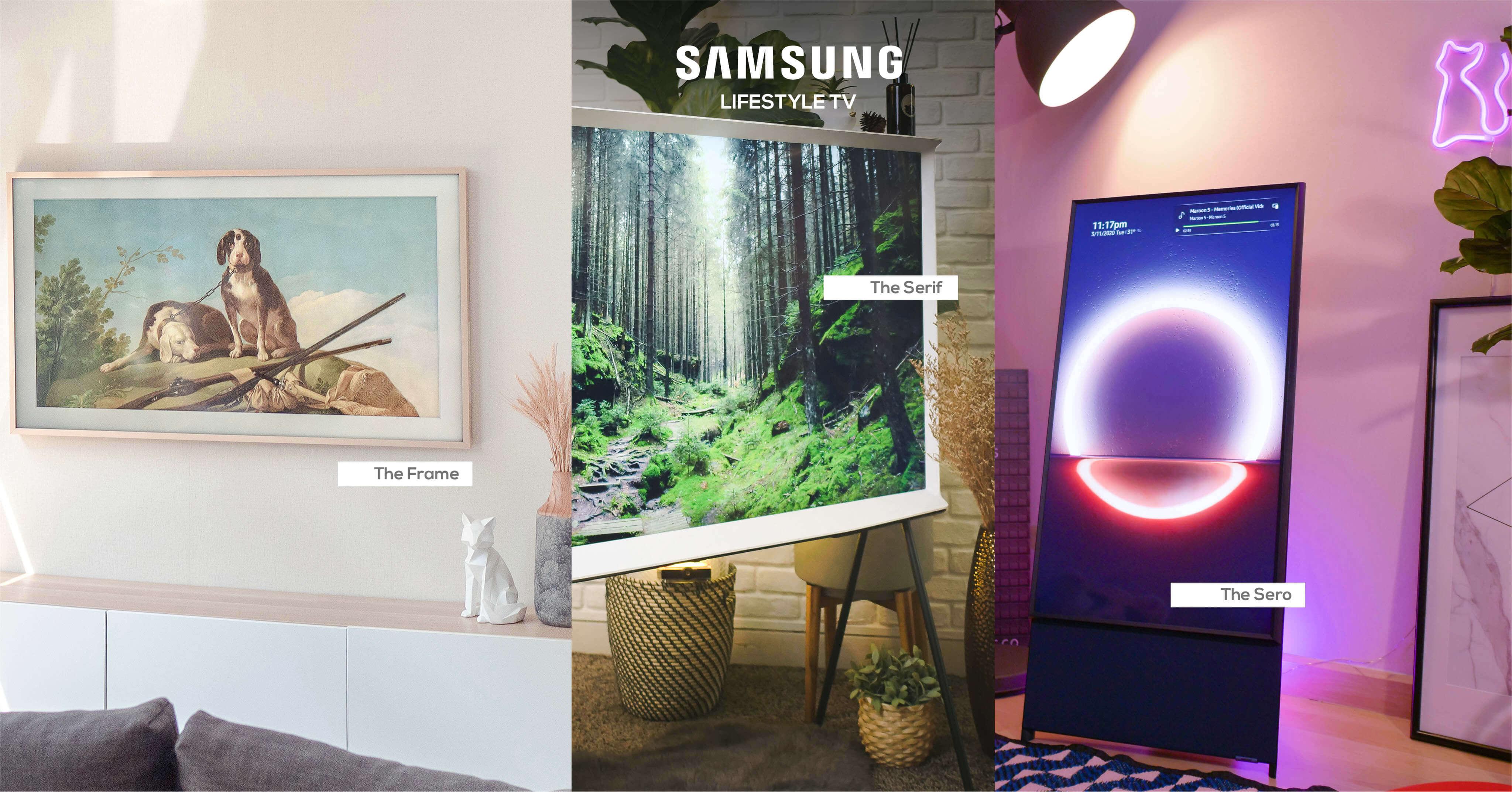 รีวิว 3 ทีวีที่สวยที่สุดเจนเนอเรชั่นนี้ The Frame The Serif และ The Sero 13 - decor