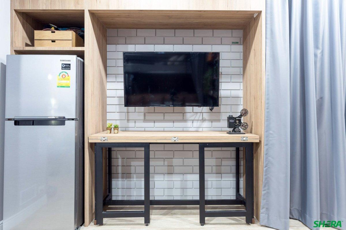 รีโนเวทบ้าน แปลงคอนโดเก่าเป็นสไตล์ Loft และประตูสวยทนด้วยไฟเบอร์ซีเมนต์จาก Shera 17 - fiber cement wood