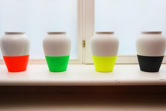 Fluro Vases 14 - hobby