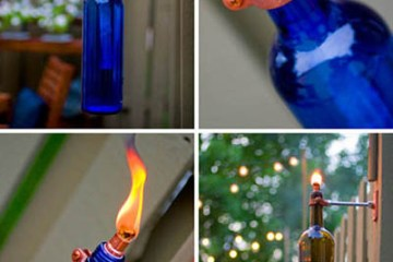 DIY:Recycled Wine Bottle Torch 13 - DIY
