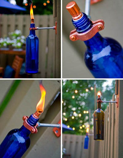 DIY:Recycled Wine Bottle Torch 13 - INSPIRATION