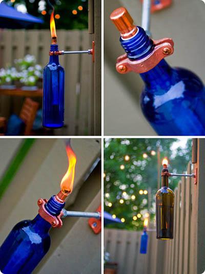 DIY:Recycled Wine Bottle Torch 17 - DIY