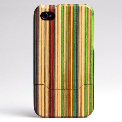 Skateboard iPhone 4 case 21 - bamboo