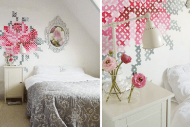 DIY: Wallpaper Еmbroidery ♥ 29 - DIY