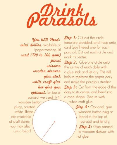 D 4 DIY : Drink Parasols