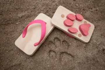 cat print sandals 2 - animal sandals