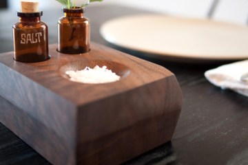 DIY project: Wood bud vase and Salt dish