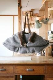 fur cape bag