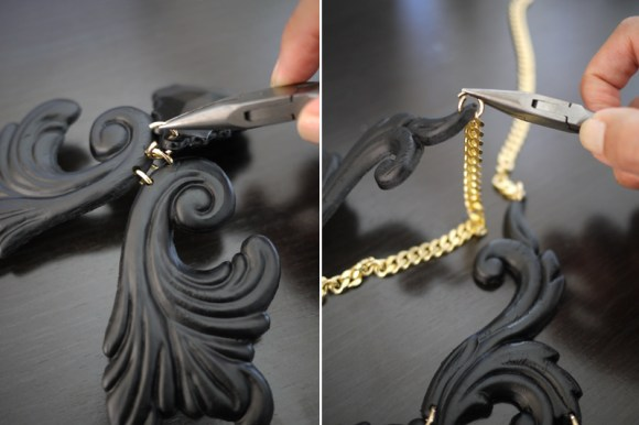 DIY.Black necklace 18 -