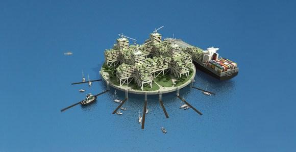 seasteading institute design competition4 580x298 ผู้ก่อตั้ง PayPal ทุ่มเงิน 1.25 ล้านUSD สร้างเมืองขนาดเล็กกลางทะเล