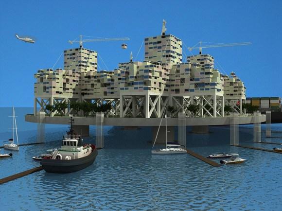 seasteading institute design competition5 580x434 ผู้ก่อตั้ง PayPal ทุ่มเงิน 1.25 ล้านUSD สร้างเมืองขนาดเล็กกลางทะเล