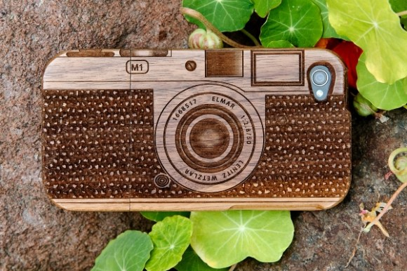 Wood camera Iphone4 case 16 - bamboo