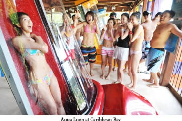 Aqua Loop เครื่องเล่นสุดชิคที่สวนน้ำ Caribbean bay 23 - Korea