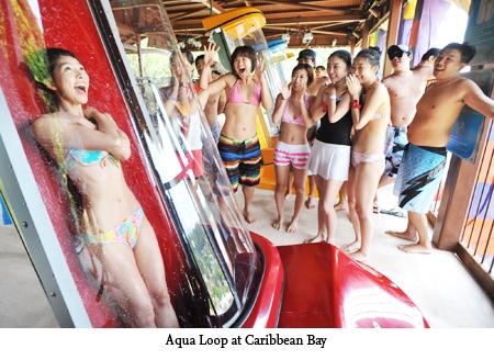 Aqua Loop เครื่องเล่นสุดชิคที่สวนน้ำ Caribbean bay 14 - Aqua Loop