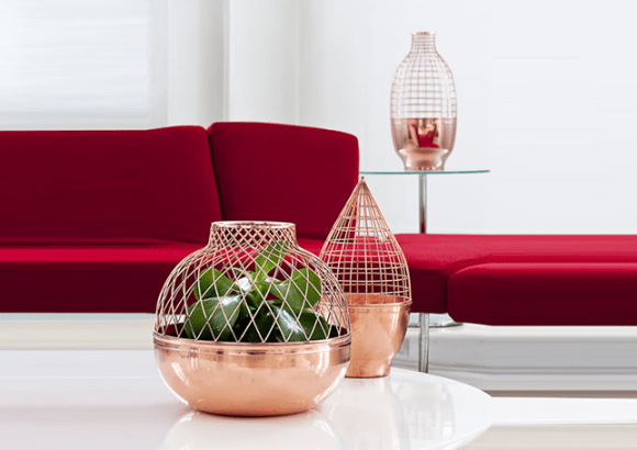 Grid vase for Gaia and Gino 15 - Copper