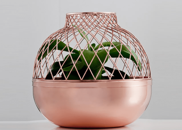 Grid vase for Gaia and Gino 16 - Copper