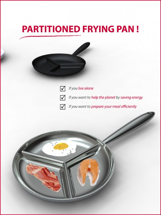 Partitioned Frying Pan 13 - pan