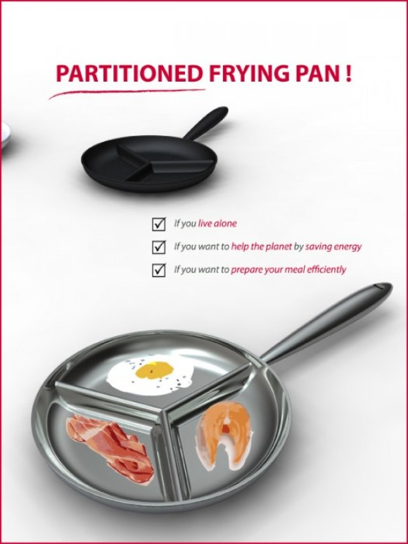 Partitioned Frying Pan 14 - pan