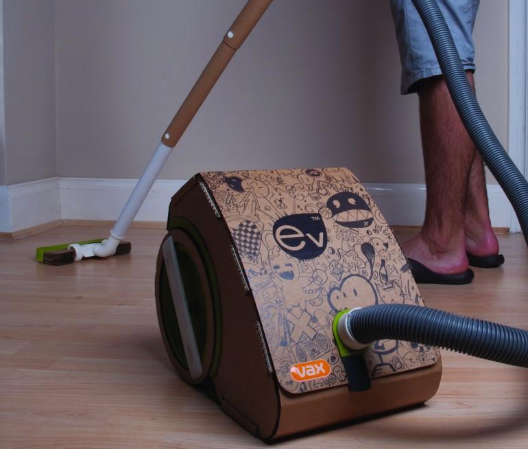vacuum cleaner เครื่องดูดฝุ่นจากกระดาษลูกฟูก 14 - cardboard