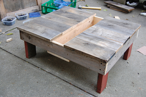 D.I.Y.โต๊ะปลูกต้นไม้..จากลังไม้เก่า 18 - DIY