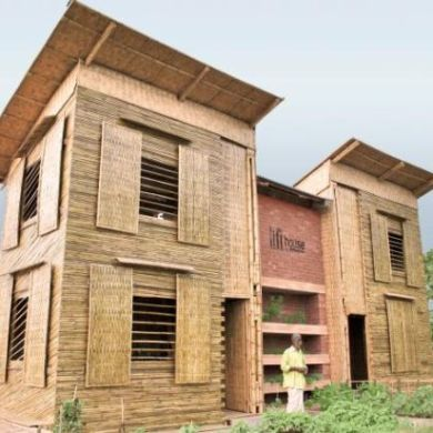 Sustainable Low Cost Flood-Proof House - The Lift 23 - flood