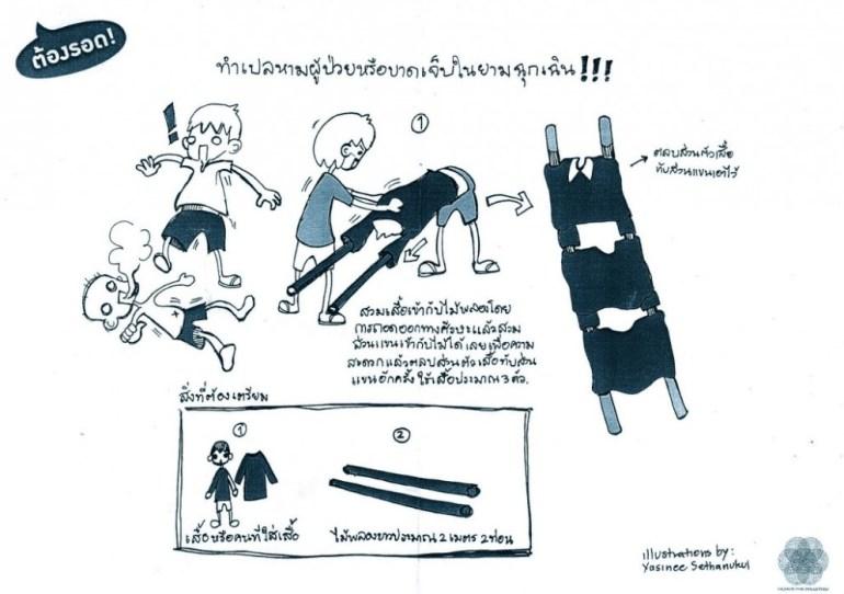 DIY เปลหามผู้ป่วยหรือบาดเจ็บยามฉุกเฉิน 13 -