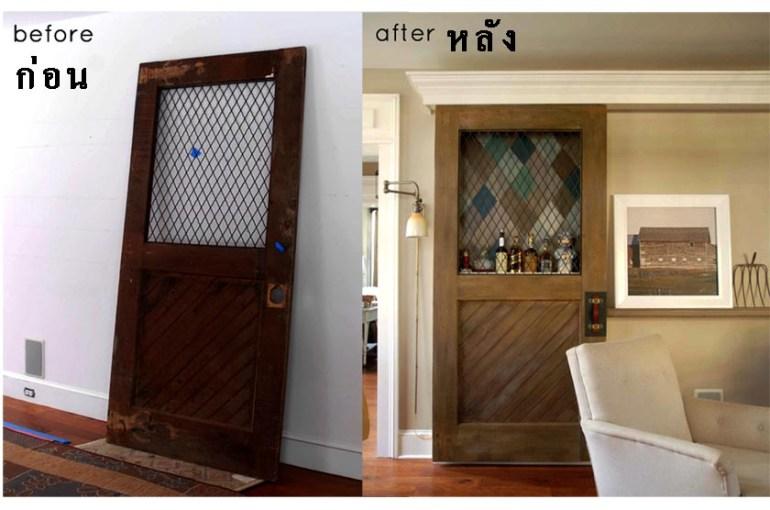 ก่อน-หลัง บานประตู DIY:Before & After repurposed horse stall doors 13 -