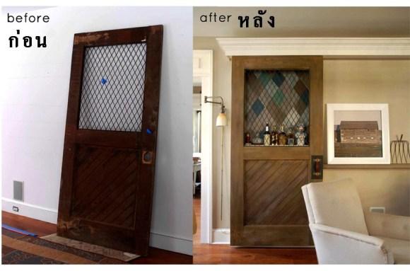 ก่อน-หลัง บานประตู DIY:Before & After repurposed horse stall doors 14 -