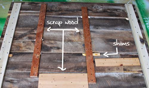 barnwood headboard step5 DIY ตกแต่งหัวเตียงนอนใหม่ หลังน้ำท่วม