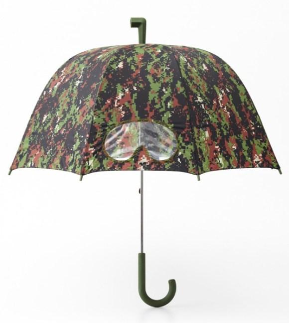 camouflage05 580x649 Goggles umbrella แฟชั่นทหารบนร่ม