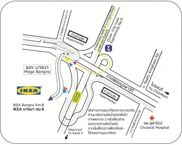 map th 580x463 IKEA เปิดแล้ว..คนแห่ไปกันแน่นห้าง