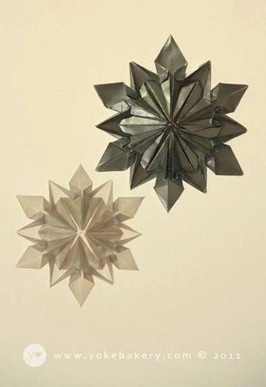 Origami Snowflake..เอาไว้ตกแต่งบรรยากาศช่วงปีใหม่ 13 - origami