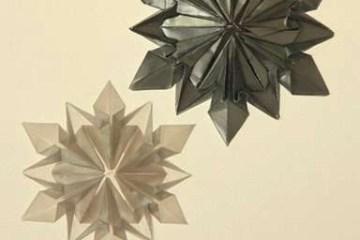 Origami Snowflake..เอาไว้ตกแต่งบรรยากาศช่วงปีใหม่ 12 - origami