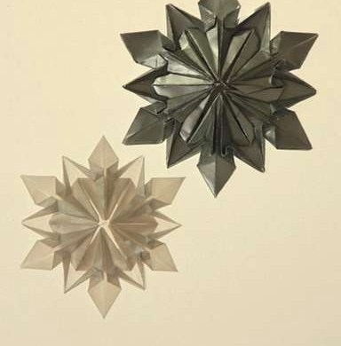 Origami Snowflake..เอาไว้ตกแต่งบรรยากาศช่วงปีใหม่ 16 - origami