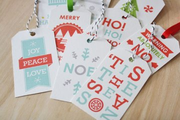 Free Christmas tags