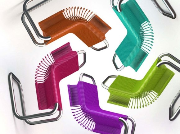 Chairs Made from Plastic Coat Hangers เก้าอี้ไม้แขวน 17 -