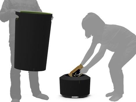 cuum trashbin4 The Cuum ถังขยะ...ดูดฝุ่น