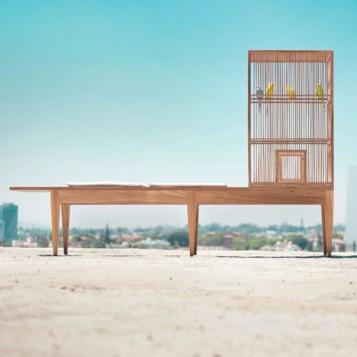 %name Family Bench by Valentin Garal ม้านั่งยาว เคล้าเสียงนก