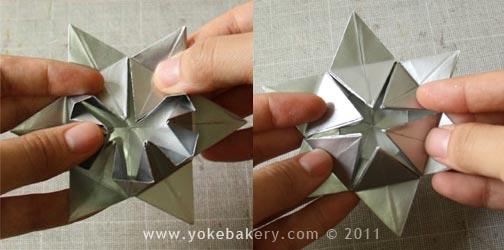 Origami Snowflake..เอาไว้ตกแต่งบรรยากาศช่วงปีใหม่ 14 - origami