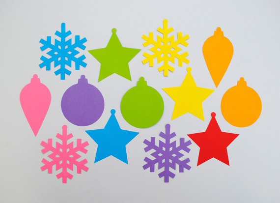 simple paper ornaments Hello kids!!Christmas tree decorations