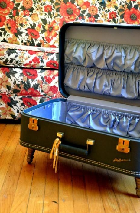 25550115 083800 D.I.Y.โต๊ะจากกระเป๋าเดินทางเก่า