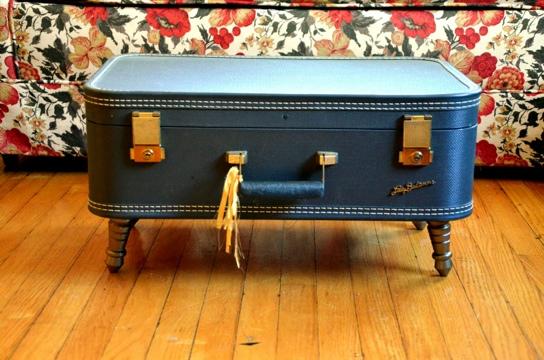 D.I.Y.โต๊ะจากกระเป๋าเดินทางเก่า 25 - รีไซเคิล