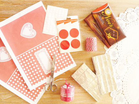 DIYValentine FREEPrintable ChocolateWrappers RED 1 DIY.Chocolate bar wrapper