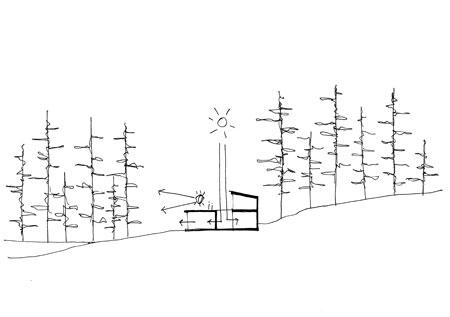 sketch 3 Villa Nyberg บ้านที่มีการผสมผสานของไม้ที่เป็นมิตรกับสิ่งแวดล้อม