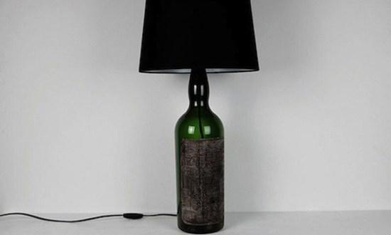2 bottle lamp black 550x330 BOTTLE LAMP IDEAS หลอดไฟขวดแก้ว