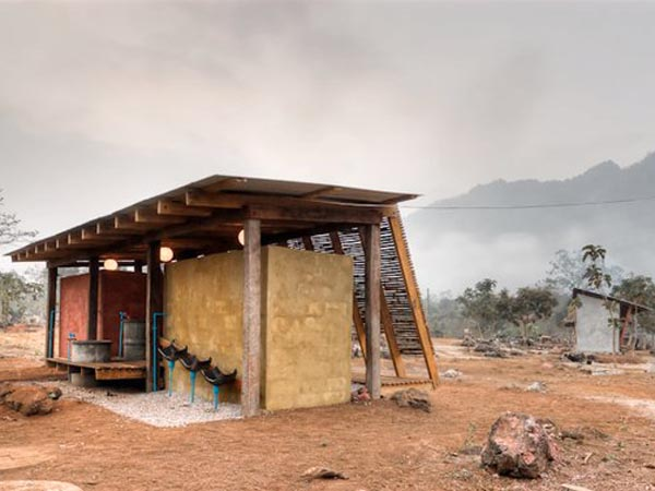 TYIN Bamboo Library And Bath House Thailand Orphanage 8 สถาปัตยกรรมที่ยั่งยืน..จากการทำงานร่วมกัน ระหว่างชาวบ้านที่ท่าสองยาง และกลุ่มนักศึกษาจากนอร์เวย์